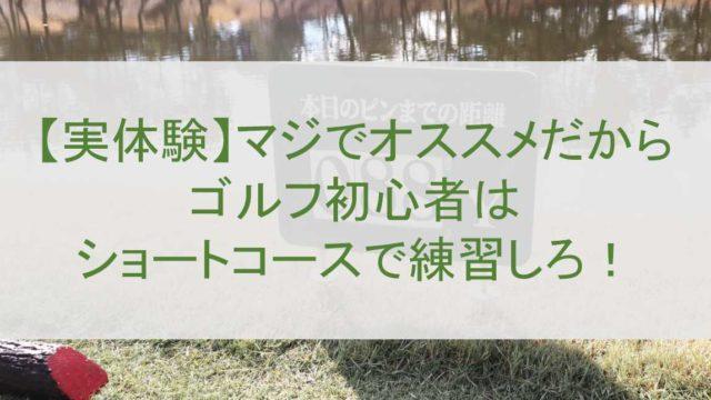 【実体験】マジでオススメだからゴルフ初心者はショートコースで練習しろ!