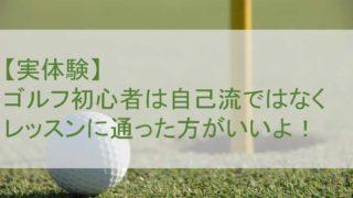 【実体験】ゴルフ初心者は自己流ではなくレッスンに通った方がいいよ!